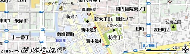 和歌山県和歌山市木挽丁周辺の地図
