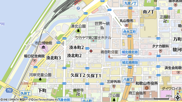 〒640-8222 和歌山県和歌山市湊本町の地図