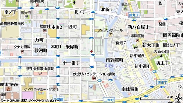 〒640-8108 和歌山県和歌山市雑賀町の地図