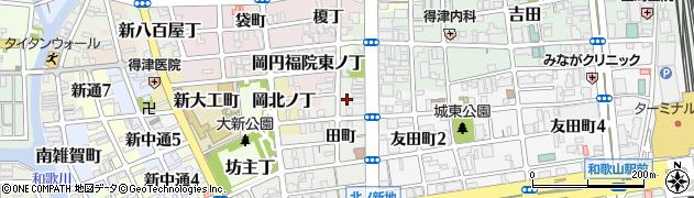 和歌山県和歌山市新内周辺の地図