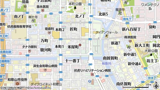 〒640-8026 和歌山県和歌山市中ノ店南ノ丁の地図
