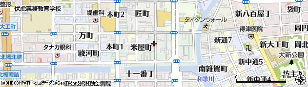 和歌山県和歌山市中ノ店(南ノ丁)周辺の地図