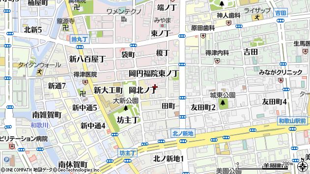 〒640-8362 和歌山県和歌山市岡織屋小路の地図