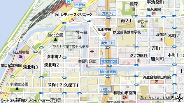 〒640-8215 和歌山県和歌山市橋丁の地図