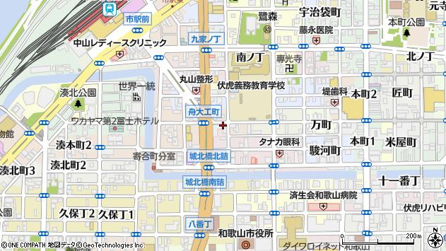 〒640-8044 和歌山県和歌山市板屋町の地図