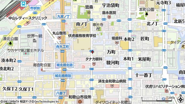 〒640-8042 和歌山県和歌山市西ノ店の地図