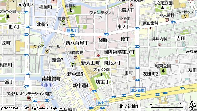 〒640-8364 和歌山県和歌山市岡円福院西ノ丁の地図