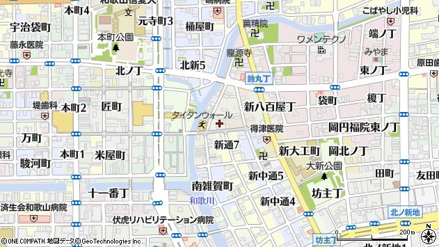 〒640-8101 和歌山県和歌山市新雑賀町の地図