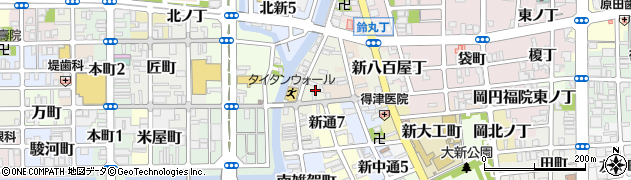 和歌山県和歌山市新雑賀町周辺の地図