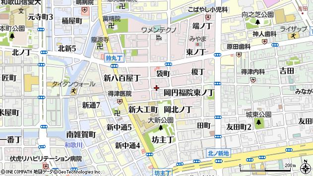 〒640-8385 和歌山県和歌山市畑屋敷円福院西ノ丁の地図