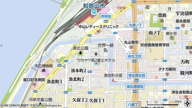 〒640-8221 和歌山県和歌山市湊紺屋町の地図
