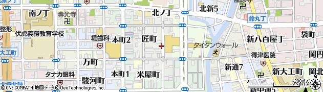 和歌山県和歌山市中ノ店(中ノ丁)周辺の地図