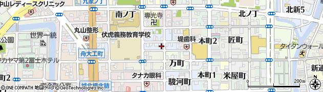 和歌山県和歌山市東鍜冶屋町周辺の地図