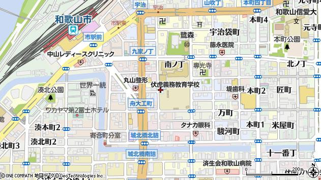 〒640-8046 和歌山県和歌山市西鍛冶屋町の地図