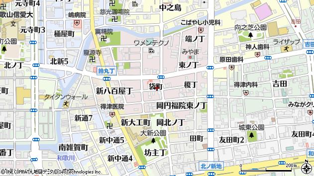 〒640-8387 和歌山県和歌山市畑屋敷袋町の地図
