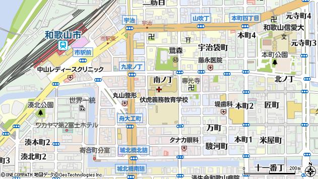 〒640-8047 和歌山県和歌山市鷺ノ森南ノ丁の地図