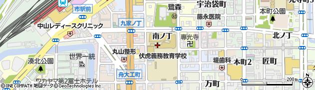 和歌山県和歌山市鷺ノ森(南ノ丁)周辺の地図
