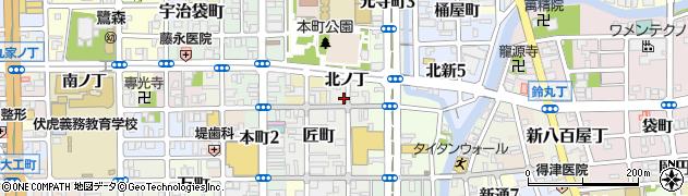 和歌山県和歌山市中ノ店(北ノ丁)周辺の地図