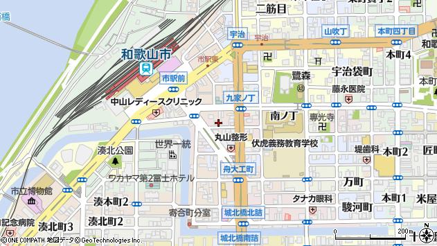〒640-8216 和歌山県和歌山市元博労町の地図