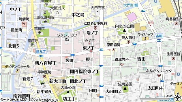 〒640-8381 和歌山県和歌山市畑屋敷東ノ丁の地図