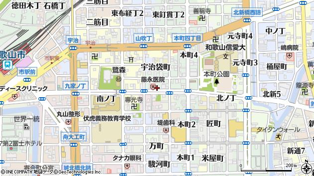 〒640-8038 和歌山県和歌山市北町の地図