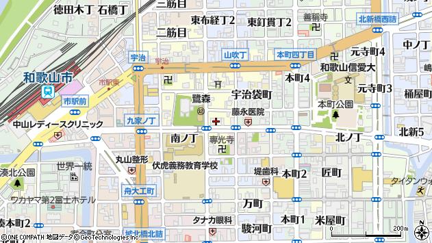 〒640-8052 和歌山県和歌山市鷺ノ森堂前丁の地図