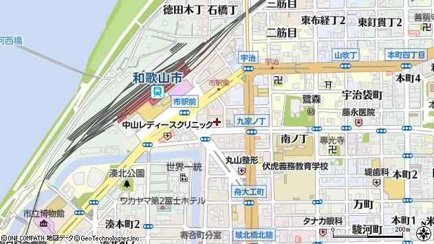 〒640-8212 和歌山県和歌山市杉ノ馬場の地図