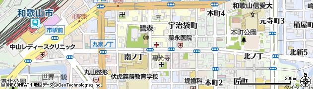 和歌山県和歌山市鷺ノ森(堂前丁)周辺の地図