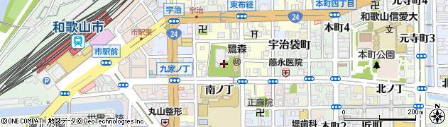 和歌山県和歌山市鷺ノ森周辺の地図