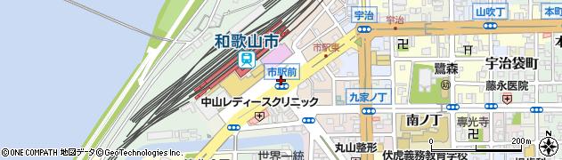 和歌山県和歌山市屏風丁周辺の地図