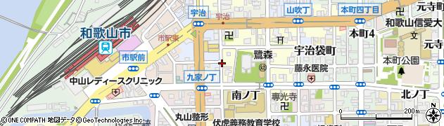 和歌山県和歌山市鷺ノ森(西ノ丁)周辺の地図
