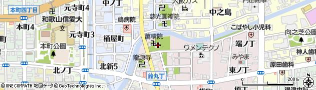 萬精院周辺の地図
