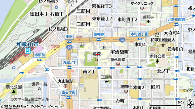 〒640-8054 和歌山県和歌山市鷺ノ森片町の地図