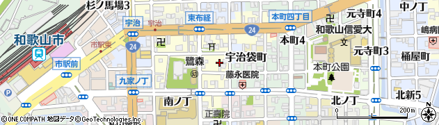 和歌山県和歌山市鷺ノ森(東ノ丁)周辺の地図