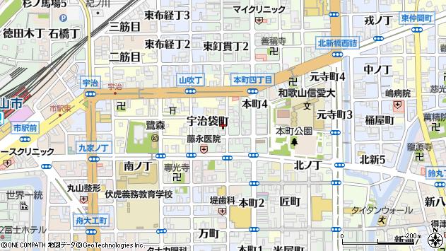 〒640-8064 和歌山県和歌山市東釘貫丁の地図
