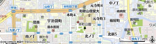 和歌山県和歌山市北桶屋町周辺の地図