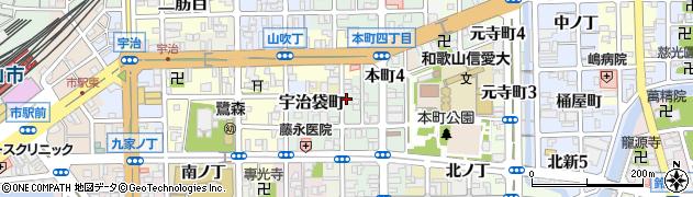 和歌山県和歌山市東釘貫丁周辺の地図