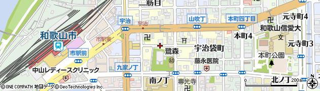 和歌山県和歌山市鷺ノ森(中ノ丁)周辺の地図