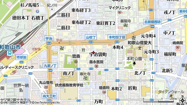 〒640-8063 和歌山県和歌山市西釘貫丁の地図