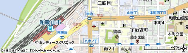 和歌山県和歌山市西布経丁周辺の地図