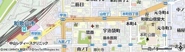 和歌山県和歌山市鷺ノ森(明神丁)周辺の地図