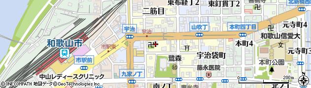 和歌山県和歌山市鷺ノ森(新道)周辺の地図