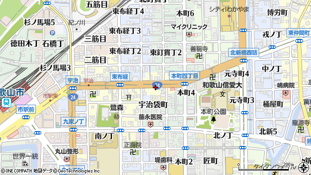 〒640-8065 和歌山県和歌山市山吹丁の地図