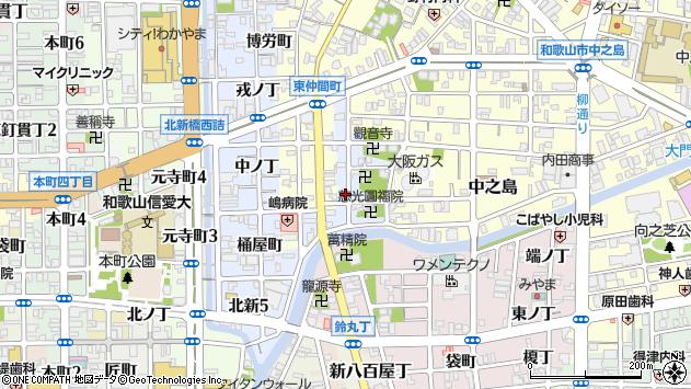 〒640-8012 和歌山県和歌山市北新金屋丁の地図