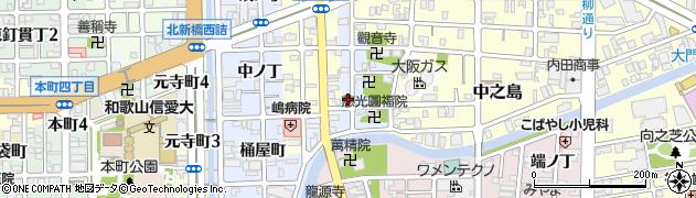 和歌山県和歌山市北新(金屋丁)周辺の地図