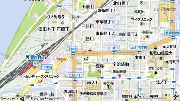 〒640-8067 和歌山県和歌山市一筋目の地図