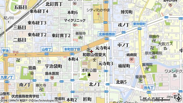 〒640-8004 和歌山県和歌山市東旅籠町の地図