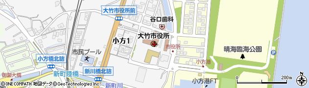 広島県大竹市周辺の地図