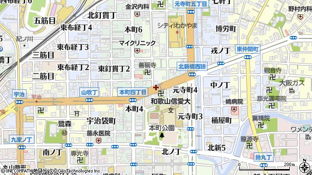 〒640-8021 和歌山県和歌山市西旅籠町の地図