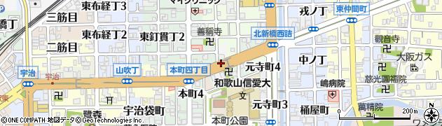 和歌山県和歌山市西旅籠町周辺の地図